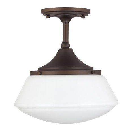 Capital Lighting 3533BB-129 One Light Semi-Flush Mount Burnished Bronze Finish with  sc 1 st  Pinterest & 109 best Creekside design ideas images on Pinterest | Glass shades ...