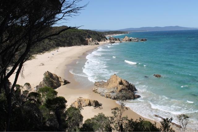 Secret Beach, Mallacoota, Australia.    Adventures in Integration: It's a Holi--holiday, Part II