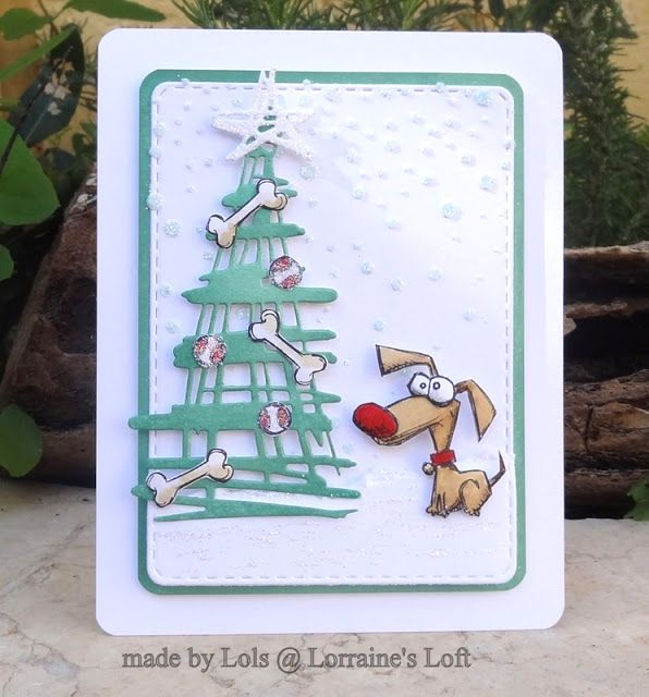 Lorraine' Loft: Crazy Dog card