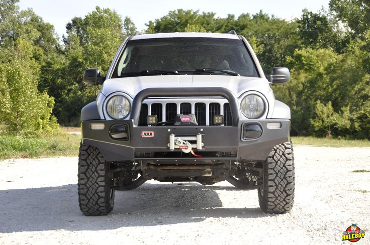 """2005 Jeep Liberty upgraded with a 2"""" Old Man Emu lift, Goodyear Duratrac tires, an ARB front bumper and Warn winch.__________________________________#Axleboy #offroad #jeep #liberty #upgrade #jeeplife #saywhat #ARB #WARN #winch #jeepshop #missouri #ofallon #stlouis #stl #jeepbeef #jeepthing #olllllllo"""