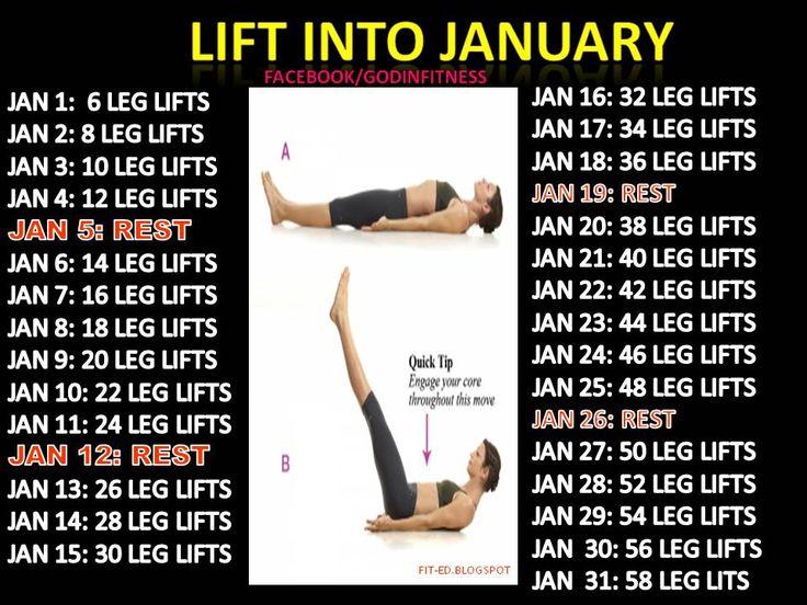 Leg Lift Challenge   Fitness challenges   Pinterest