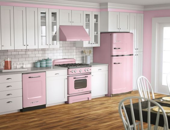 Pink lemonade? Big Chill retro fridges, stoves and dishwashers come in eight vibrant colors—and more than 200 custom shades. Click to discover more today! #Retro #BigChill
