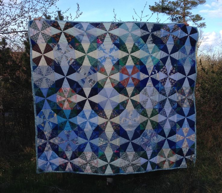 Margits quilt. Kalaidoskope quilt, machine sewn and quilted. Made by Karin Emborg Gjersøe Denmark. 2016.