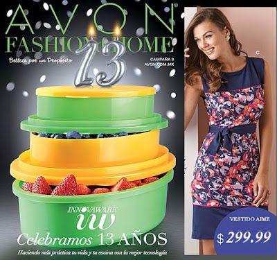 Catalogo de Moda Avon campaña 8 2016. Hojea: Ropa, lenceria, accesorios, fajas, productos varios y otros.