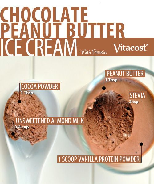 Chocolate-Peanut Butter Protein Ice Cream by @muscletech