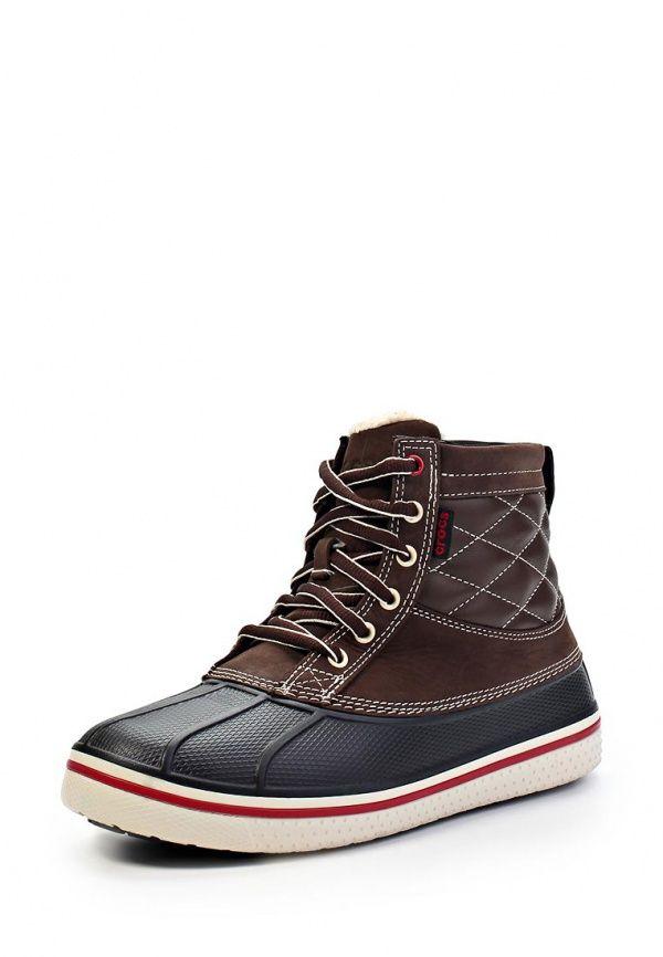 Ботинки Crocs / Крокс мужские. Цвет: коричневый, черный. Материал: полимер. Сезон: Весна-лето 2014. С бесплатной доставкой и примеркой на Lamoda. http://j.mp/1rOYT5X