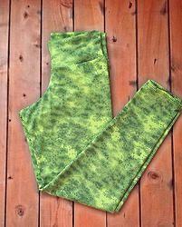 Licra estampada Verde Neon