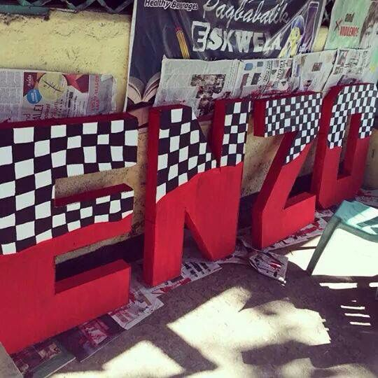 tnx to my sister,,,home made letter standee done for my enzo's bday