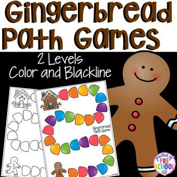 Freebie - Gingerbread path games make counting and adding come to life. Perfect for a gingerbread theme at Christmas in a preschool, pre-k, or kindergarten classroom.