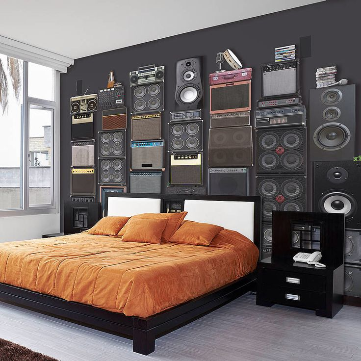 I've just found Music Speaker Stack Self Adhesive Wallpaper. Ever wished you could live like a rock star? This incredible Speaker Wallpaper is a great way to start!. £35.00