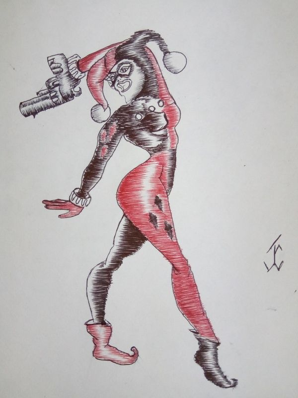 ComicJokerGirl #guason #joker #drawing #draw #pen #art #comicdc #movie #batman #justiceligue #harleyquinn