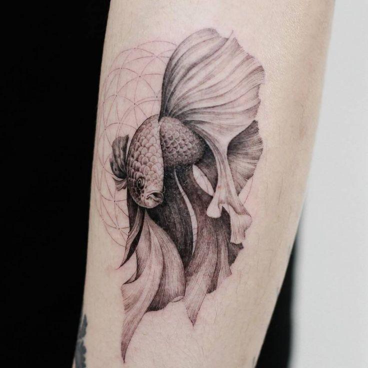 Betta Splendens fish tattoo.