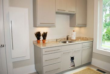 Laundry Room Design Ideas, Pictures, Remodels and Decor/ cat litter