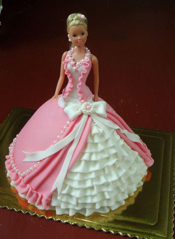 Doll cakes. Holy CRAP! That's the most intense and intricate Barbie cake I've ever seen!