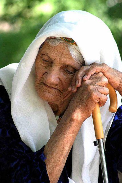Tajikistan by babasteve. Old lady, elderly woman, hands, stick, wrinckles, lines of life, wisdom, expression, emotional, portrait