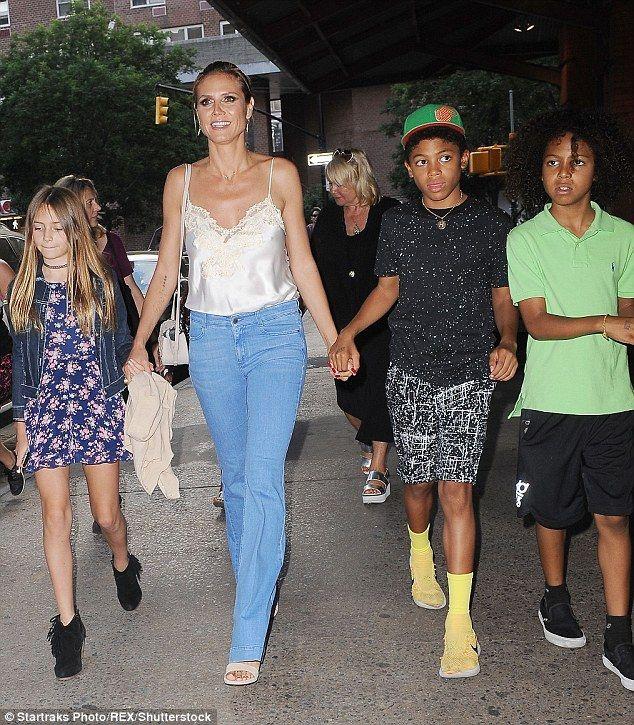 Busy mom! The model is mom to Helene, 12, Henry, 11, Johan, 9, and Lou, 7 - whom she share...