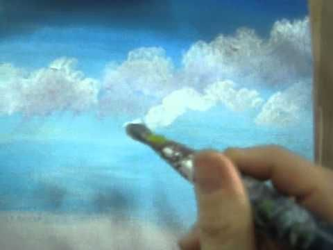 """Paint Clouds - how to - tutorial - drawing lesson - easy painting Try It Now! Very Easy acrylic lesson   This is part 2/7 of a beautiful seascape painting  If you want to watch all series in 1 short videa watch:  """"Acrylic Lesson Online - How To Paint A Picture With Acrylic""""  To watch all 7 videos of this painting   Here are the titles:  Paint a ..."""