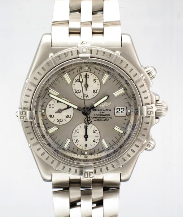 STEEL BREITLING CROSSWIND CHRONOGRAPH AUTOMATIC WATCH - Attenborough Pawnbrokers & Jewellers #breitling #crosswind #prestige #watch #pawnbroker #unredeemed #pledge for #sale #attenborough #jewellers #london