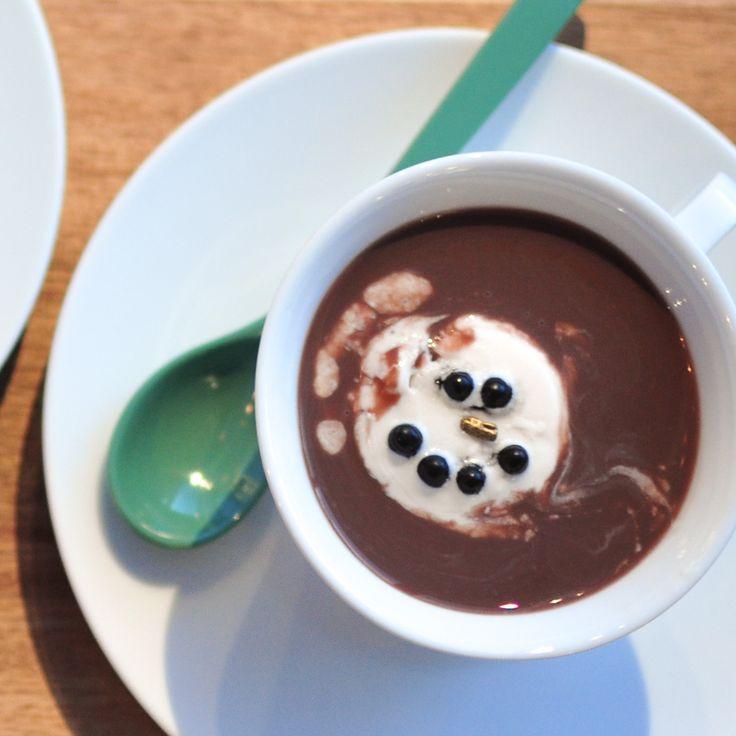 Snømann i kakaolurken - NAMMMmmm