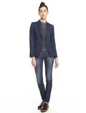 Prezzi e Sconti: #Blazer in diagonale misto lana Blu  ad Euro 0.00 in #Chiara #Cappotti e giacche giacconi