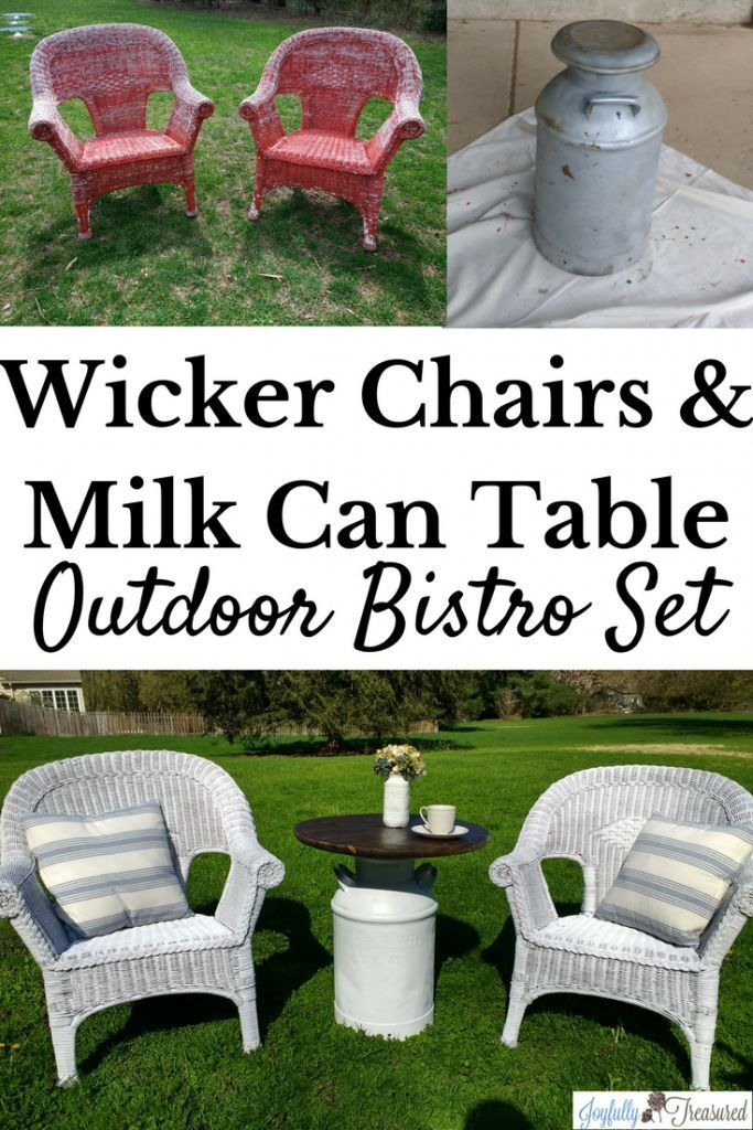 Painting Wicker Chairs And A Milk Can Table How To Paint Wicker