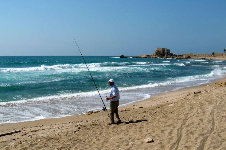 Pescando en Akko (Isarael)