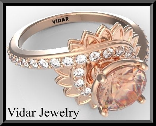 Engagement RingMorganite Engagement RingDiamond by Vidarjewelry, $1740.00