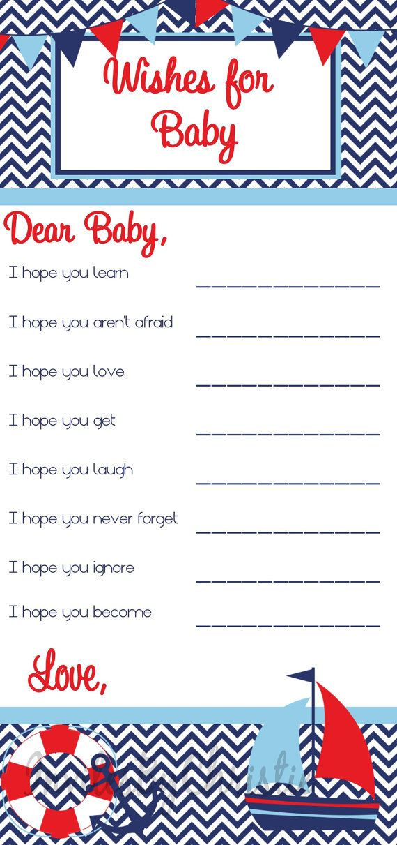 Instant Download Ahoy It's A Boy Wishes For by InvitesByChristie