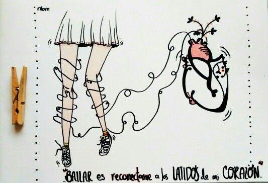 Bailar es reconectarse a los latidos del corazón #HandDrawing #Dance #Heart #Ilustration #Draw #nbm