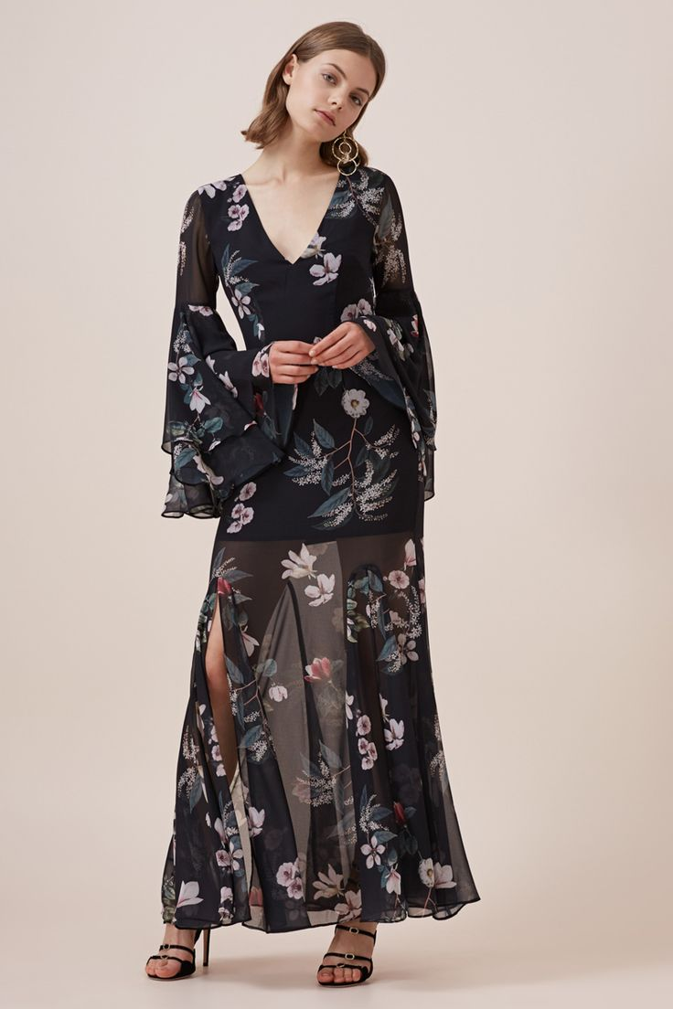 Keepsake - Cosmic Girl Maxi Dress- Dark Floral