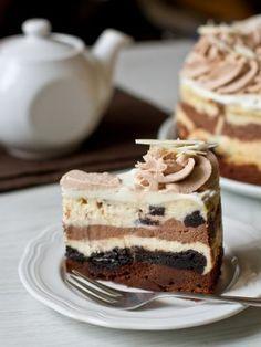 """Чизкейк """"Шоколадное безумие"""": как приготовить - проверенный пошаговый рецепт с фото на Вкусном Блоге"""