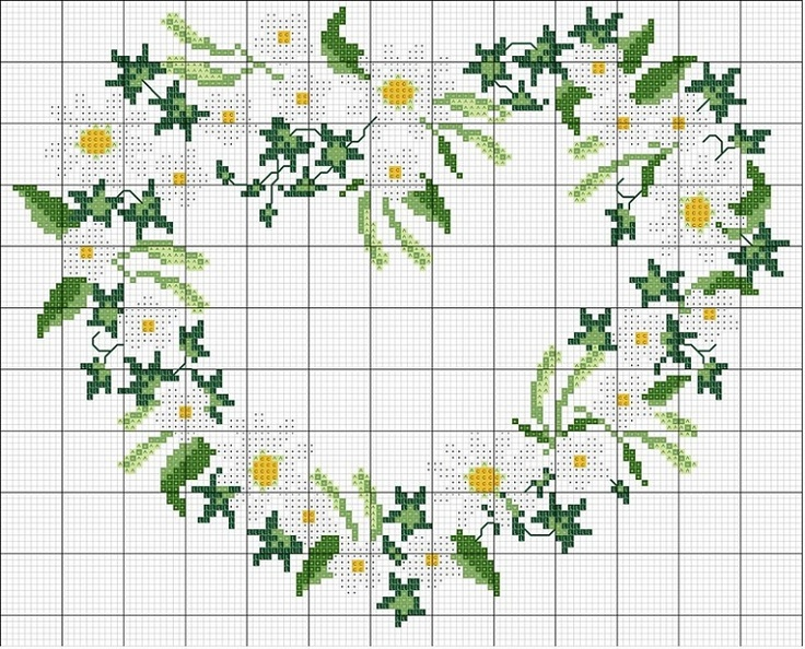 Daisy heart pattern