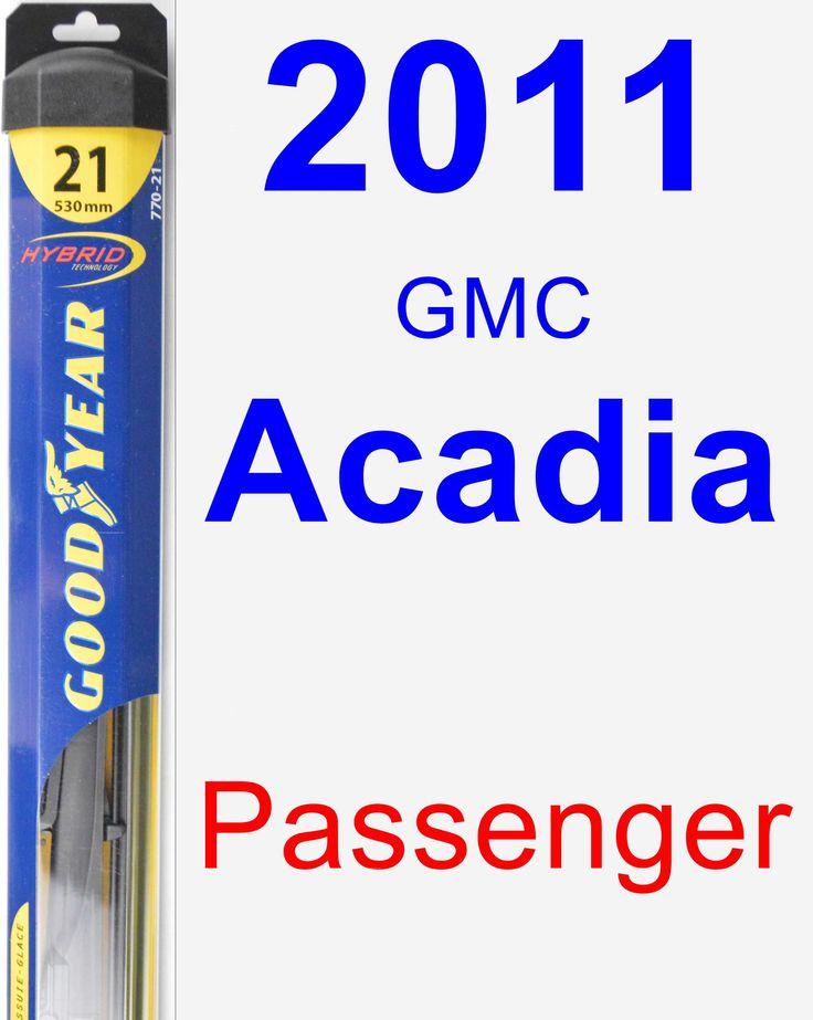 Passenger Wiper Blade for 2011 GMC Acadia - Hybrid