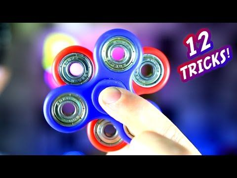 12 Awesome Hand Spinner Fidget Tricks and Science Experiment CHALLENGE! - YouTube