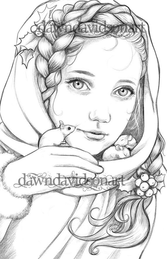 Keeping Them Warm Adult Coloring Page Fantasy Coloring