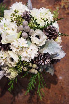 Mariage Hiver - Bouquet : Aude Rose