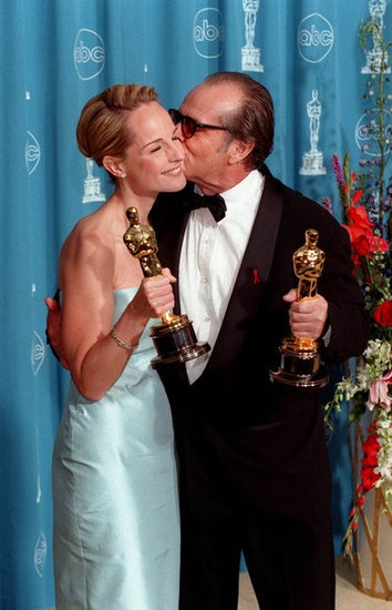 "2/08/2014 11:27pm The Academy Awards Ceremony 1998: Helen Hunt Best Actress Oscar & Jack Nicholson Best Actor Oscar for ""As Good As It Gets'"" 1997."