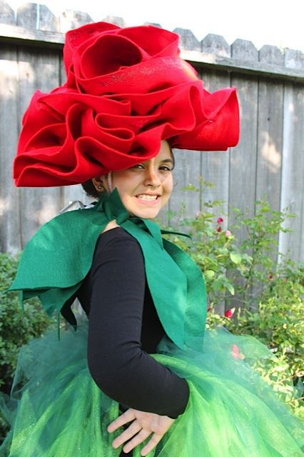 """My daughter as """"The Rose"""" from Beauty and the Beast"""