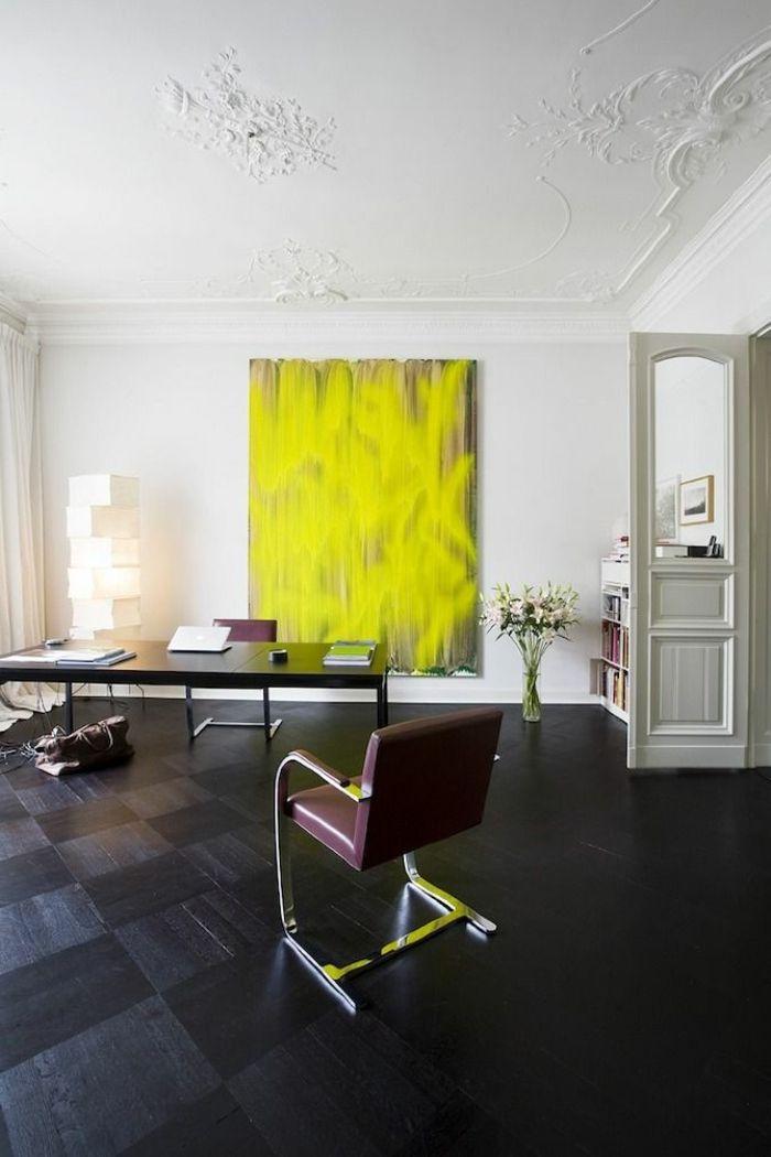 49 best Sols images on Pinterest Flooring, Floors and Wood floor - peinture plafond mat ou brillant