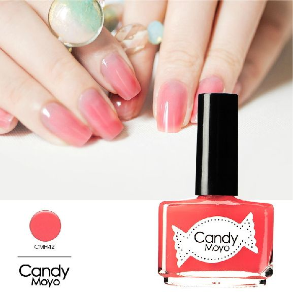 Candy Moyo膜玉糖果小姐西瓜红桃粉色显白diy法式环保指甲油CMH42