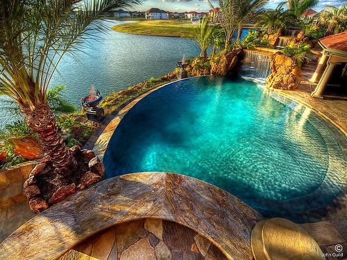 If only <3: Pools Time, Dreams Houses, Rocks Waterf, Swim Pools, Lakes Houses, Front Yard, Tropical Paradis, Beaches Houses, Dreams Pools