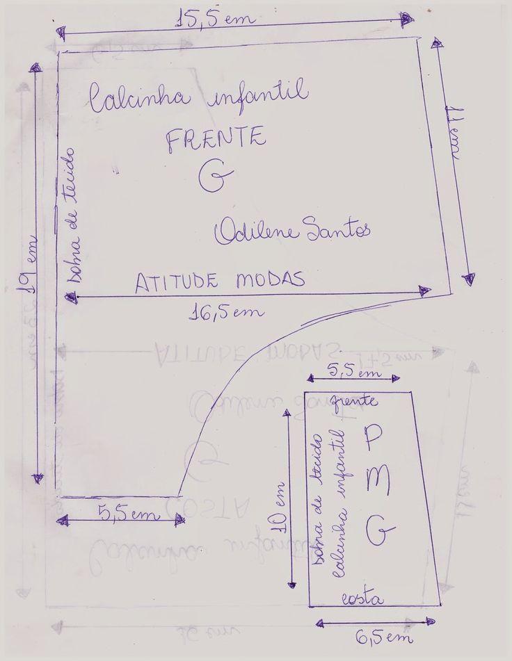 ATITUDE MODAS Odilene Santos: Novos moldes de calcinhas infantis!!!
