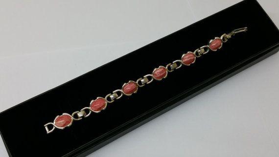 Armband Silber 835 Rhodochrosit Vintage alt SA236 von Schmuckbaron