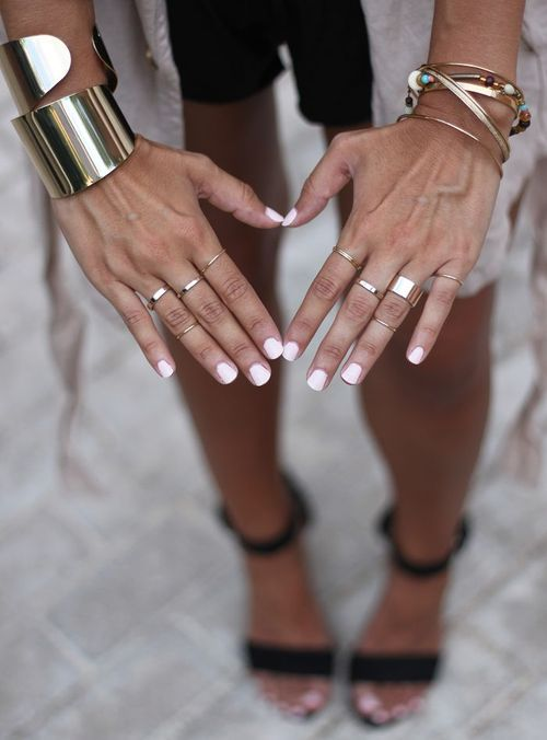 Stacked cuffs and rings