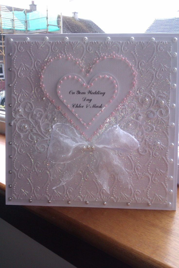 this is a wedding card I made on 21/05/13 hope you like it