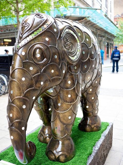 'Radja' - Elephant Parade in London, England 2010;  photo by drplokta, via Flickr