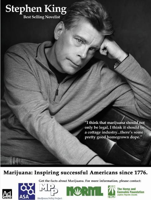 Stephen King pro marijuana www.SativaMagazine.com