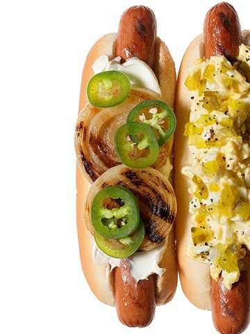 Seattle Dog Easy peasy: Spread with cream cheese, then top with grilled onions and sliced jalapenos.