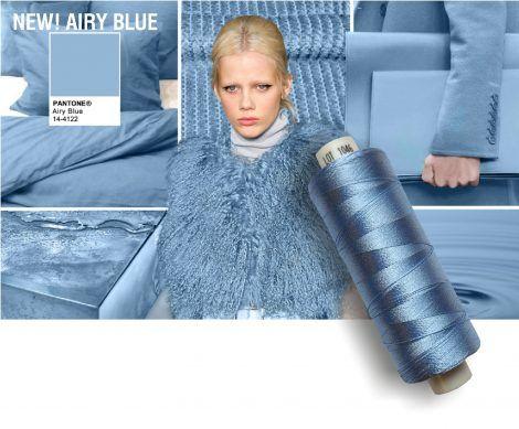 Airy Blue Colore moda abbigliamento inverno 2016 2017
