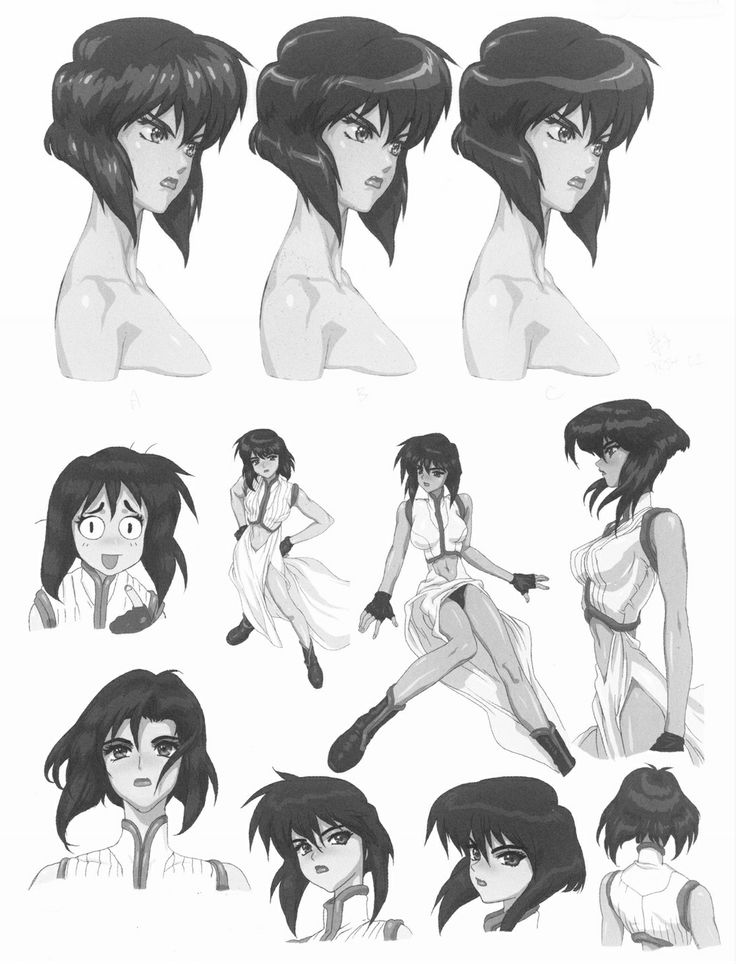 "Character Design Major : ""motoko kusanagi from ghost in the shell early tests"